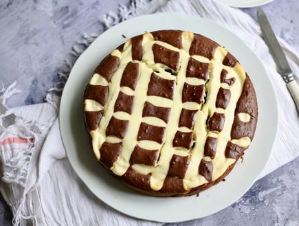 עוגת רשת שוקולד גבינה (צילום: קרן אגם, אוכל טוב)