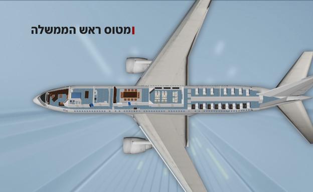 מטוס ראש הממשלה (צילום: החדשות 12)
