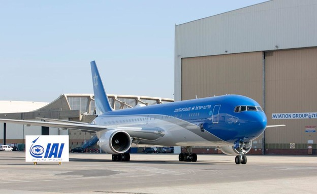 מטוס ראש הממשלה לקראת יציאה לנסיעת מבחן (צילום: אלון רון)