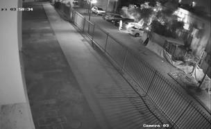 הצתת מונית באור יהודה (צילום: מצלמות אבטחה, עיריית אור יהודה)
