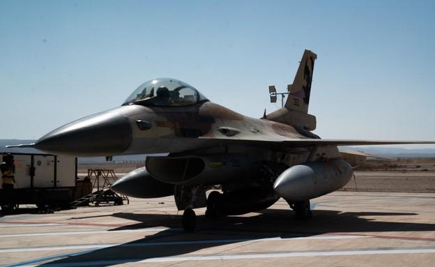 """מטוס קרב של חיל האוויר בתרגיל ה""""בלו פלאג"""" (צילום: דובר צה""""ל )"""