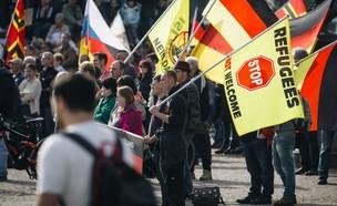 הפגנות אנטי מהגרים ואנטישמיות בדארסדן, גרמניה (צילום: skynews)