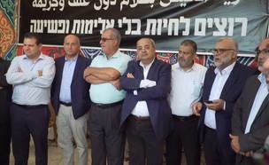 אוהל מחאה נגד האלימות בחברה הערבית (צילום: החדשות 12)