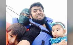 בשירול שייקדר וילדיו לפני שנלקחו על ידי אמם לסוריה (צילום: cnn)