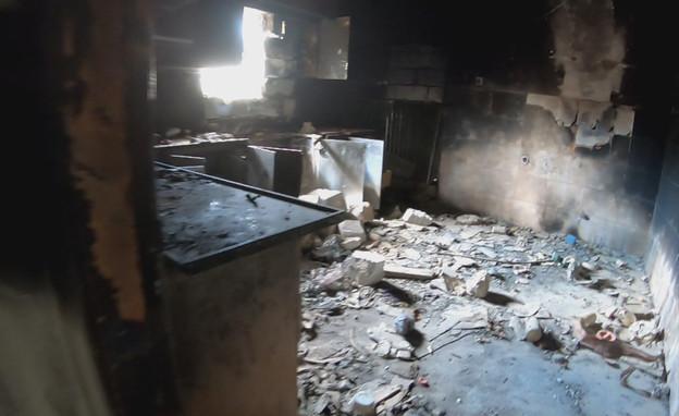 """הבית שבו הוחזק נחשון וקסמן ז""""ל (צילום: החדשות 12)"""