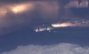 """הידרדרות רכב בירידות לים המלח מסוק מד""""א (צילום: דוברות מד""""א )"""