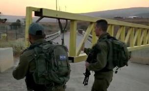 סגירת השער מישראל לנהריים (צילום: החדשות 12)