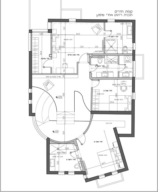 בית במרכז, ג, עיצוב אודליה ברזילי, קומה עליונה, תוכנית אחרי שיפוץ
