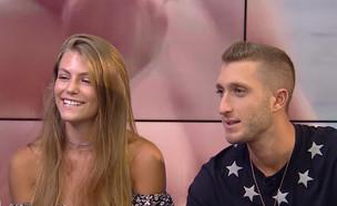 """בן זיני וטיילור בראיון זוגי (צילום: מתוך """"דש עם שיר"""", ערוץ 24)"""