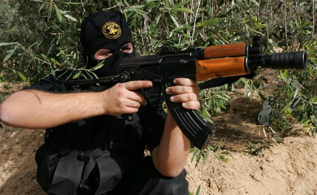 מחבל בג'יהאד האסלאמי (צילום: Abid Katib, GettyImages IL)