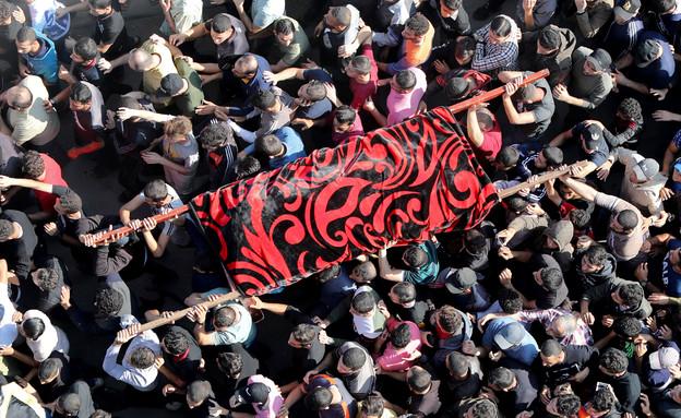 הלוויית המחבל בעזה (צילום: רויטרס)