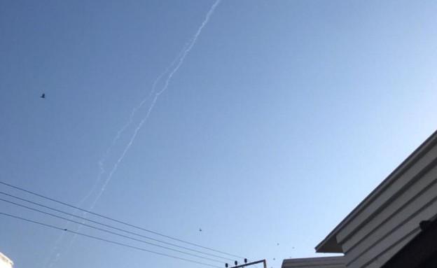 יירוט מעל בת-ים (צילום: אור רביד, החדשות 12)