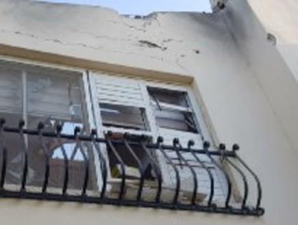 הבית שנפגע ישירות בשדרות