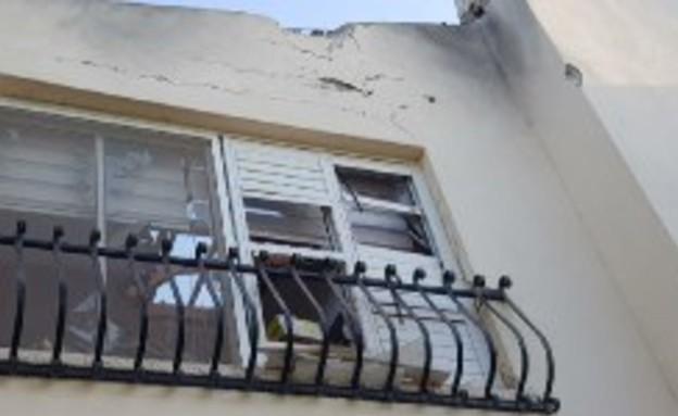 הבית שנפגע ישירות בשדרות (צילום: עיריית שדרות )