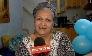 ברוריה תושבת שדרות חוגגת יום הולדת 70 (צילום: החדשות 12)