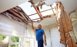 בית בשדרות שנפגע מירי (צילום: ap)