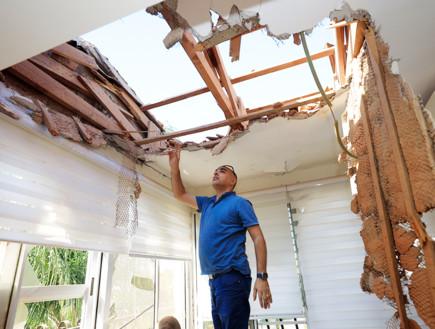 בית בשדרות שנפגע מירי