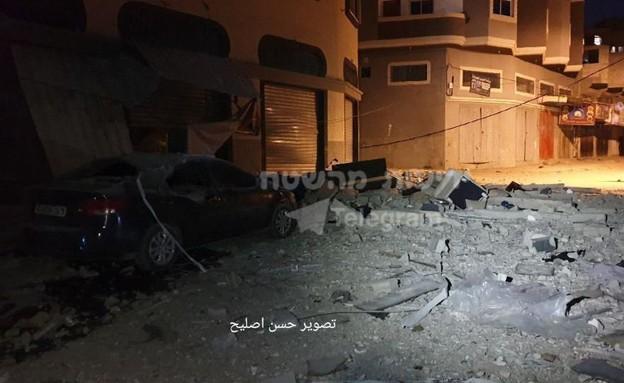 זירת החיסול של מפקד הג'יהאד האסלאמי בעזה  (צילום: החדשות 12)