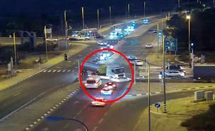 התאונה המסוכנת בשער הנגב (צילום: נתיבי ישראל)