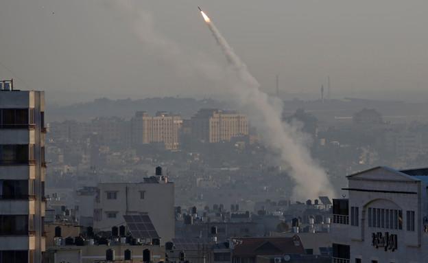 שיגורים של הג'יהאד האסלאמי מעזה לישראל (צילום: רויטרס, שי פרנקו, רויטרס)