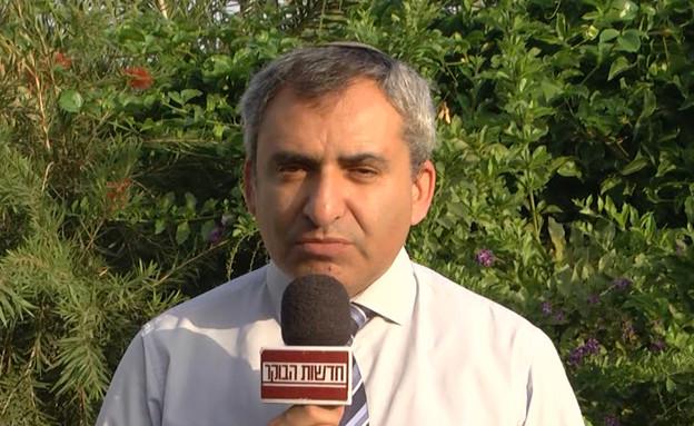 """חבר הקבינט זאב אלקין על התחדשות הירי (צילום: מתוך """"חדשות הבוקר"""" , קשת 12)"""