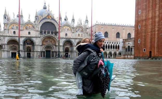 ונציה מוצפת (צילום: SKY NEWS)