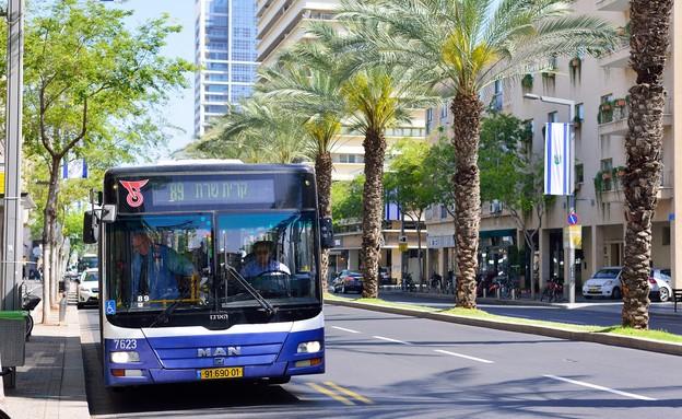 אוטובוס בתל אביב (צילום: Stanislav Samoylik, shutterstock)