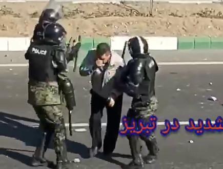 תבריז: מפגינים מתעמתים עם שוטרים