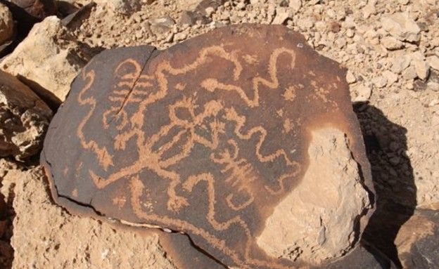 ציורי סלע בהר כרכום  (צילום: עמיר גדנאור)