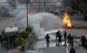 המהומות בבוליביה (צילום: Juan Karita, ap)
