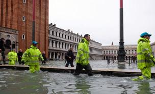 הצפות בונציה (צילום: שי פרנקו,רויטרס)