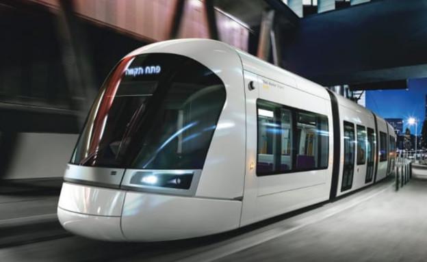 הדמייה של הרכבת הקלה בתל אביב (צילום: נתע)