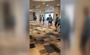 אימון נבחרת אורגוואי במלון (צילום: חדשות)