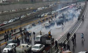 מחאת הדלק באירן (צילום: reuters)