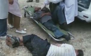 צרעות תקפו בלוויה (צילום: טוויטר\@dailystarpost)