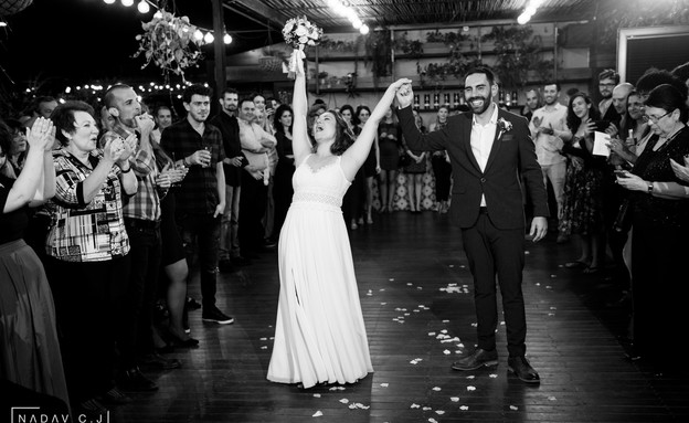 תמונות חתונה אלינה ובן (צילום: נדב כהן-יונתן)