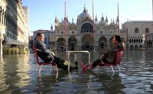 הצפות בוונציה (צילום: חוסין אל אוברה)
