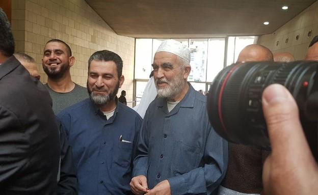 ראאד סלאח בבית המשפט, 2019 (מימין) (צילום: החדשות 12)