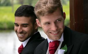 זוג מתחתן (צילום: SHUTTERSTOCK)