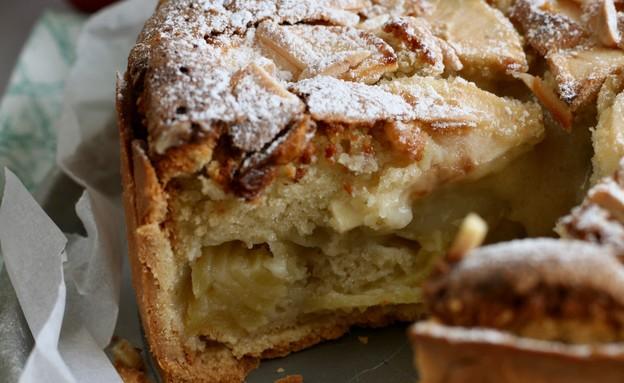 עוגת פאי תפוחים פרוסה (צילום: קרן אגם, אוכל טוב)