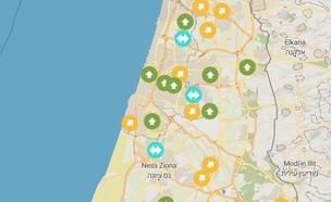 מפת המצוינות של ישראל (צילום: צילום מסך)