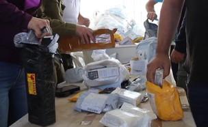 """צה""""ל סיכלו הברחת חבילות דואר שהכילו ציוד צבאי (צילום: מתפ""""ש)"""