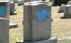 עיבוד טוויטר ובית קברות (צילום: 123RF)