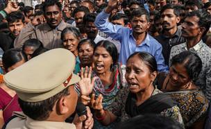 הפגנות נגד אונס נשים בהודו  (צילום: רויטרס)
