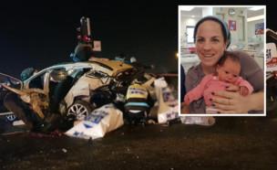 ציפי ונעם רחל, קורבנות התאונה בכביש 443 (עיבוד: באדיבות המשפחה, החדשות)
