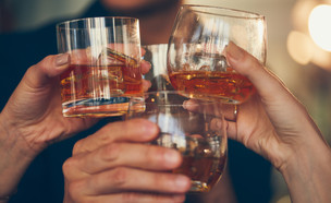 הרמת כוסית וויסקי (צילום: shutterstock, Nadezda Barkova)