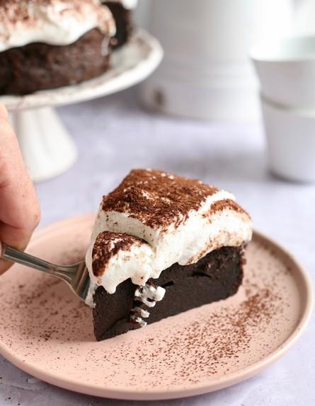 עוגת שוקולד פאדג' עם קרם ריקוטה