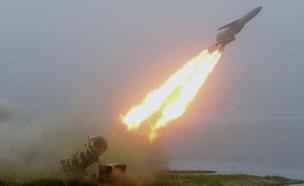 הטיל במהלך ירי ניסוי חי (צילום: A-1@Youtube)