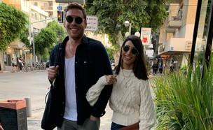 שרונה מרלין והחבר עדיין ביחד ומאוהבים, דצמבר 2019 (צילום: צ'ינו פפראצי)