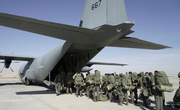 """תרגיל עוצבת הקומנדו וחיל האוויר בקפריסין (צילום: דובר צה""""ל)"""